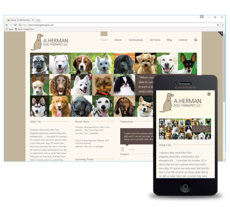 A Herman Dog Therapist Home Page Website Design