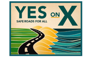 road campaign logo yes on X