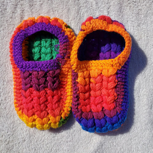 Mitchy's Face Handknit Toddler Booties